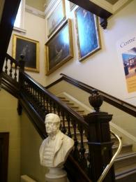 Between floors at the Victoria Art Gallery.