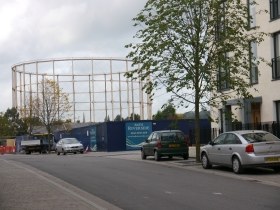 The last gasometer - due to come down in 2014.