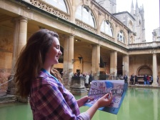 Emma Williamson, Collections Intern at the Roman Baths.