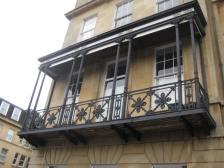 The impressive mid-19th century verandah in Vane Street.
