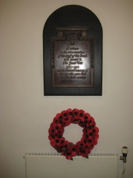 The memorial in the High Street branch of Nat West.