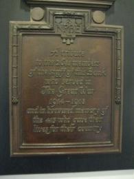 Close up of memorial.