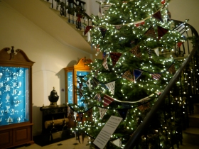 A gigantic Christmas tree from recent years.