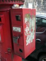 The stamp dispenser has taken a battering