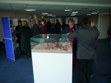 Local residents reviewing the plans and three-dimensional model.