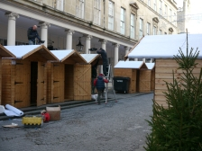 'Snow-covered' chalet roofs in Bath Street