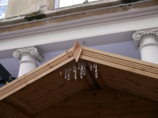There will even be icicles on the roofs.