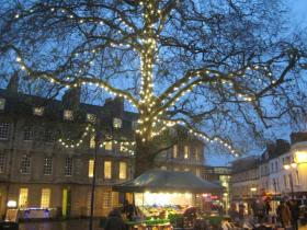 Kingsmead Square with new lights!