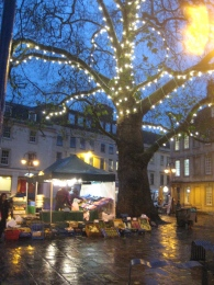 Kingsmead Square at night.