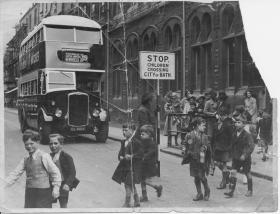On patrol at Kingsmead School in Bath - sixty years ago!