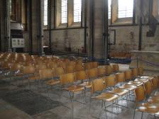 A view of seating at Salisbury Cathedral