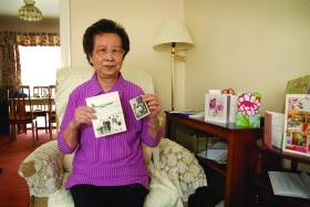 Mrs Fung You Lee is a retired takeaway owner who has lived in Bath since 1978. She is pictured with some of her treasured family photos.