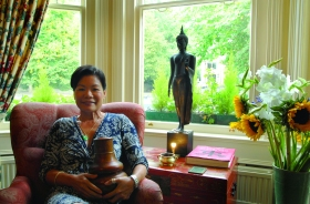 Ling Roper is a bed and breakfast owner who has lived in Bath since 2000. A Jade pendant and Pu'er tea are two of her treasures and a constant reminder of her roots.