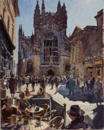 Peter Brown's 'Buskers morning meeting at the Abbey.'