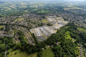 Aerial view of Foxhill site