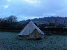 Bell tent on the K & A