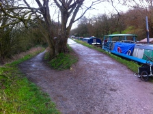 Here we are at the top of the track and where it joins the canal towpath.