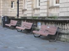 Benches at the Guildhall