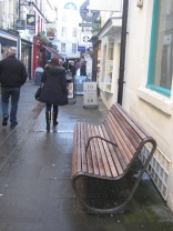 Smoker's zone bench in Northumberland Place