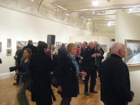 Guests at the Peter Brown private viewing.