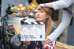 Jane Seymour about to shoot a scene.