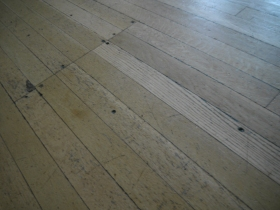 Close up of the floor in the Banqueting Room