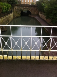 Added protection on top of one of the restored canal bridges.