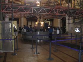 A scaffolding gateway now to the ticket desks.