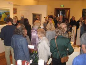 Guests at the exhibition preview.