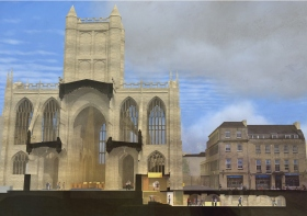 Bath Abbey - Looking East - proposed improvements.