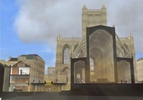 Bath Abbey - looking West
