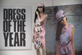 Dress of the Year 2013 is revealed at the Fashion Museum. April 2014. Photographer Freia Turland e:info@ftphotography.co.uk