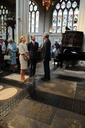 The Royal couple with the Rector of Bath Abbey.