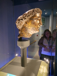 The re-displayed head of Minerva
