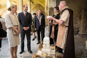 Prince Edward Earl of Wessex and Sophie Countess of wessex visit the Roman Baths. May 2014. Photographer Freia Turland e:info@ftphotography.co.uk m:07875514528