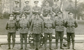 37315 2nd Wessex Royal Engineers with gun, Royal Victoria Park c1915 ©bathintime