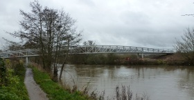 The new bridge for cyclists and pedestrians at Batheaston.