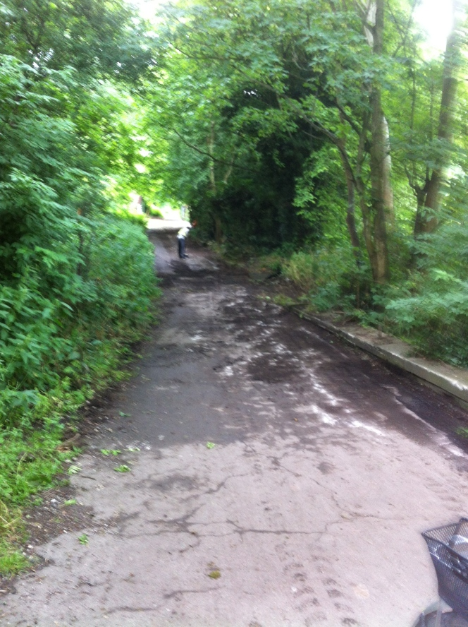 At last – a tarmac coating for cycle route intotown!