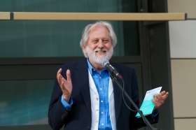 Lord Puttnam at the opening ceremony.
