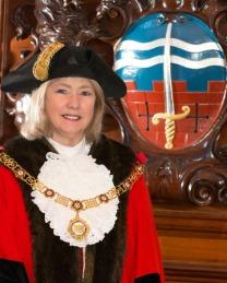 The current Mayor of Bath, Cllr Cherry Beath.