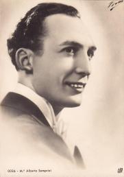Alberto Simprini - Famous pianist, composer and conductor. Born in Oldfield Park