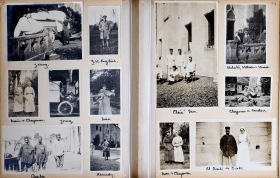 Heather Mackay's aunt's photograph album from her time as a nurse during World War One at Royaumont in France.  Courtesy of the Royal College of Physicians of Edinburgh