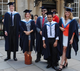 Graduating students from City of Bath College