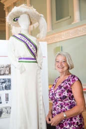 The official opening of the Great War in Costume Exhibition at the Assembly Rooms in Bath by Kate Adie OBE. The exhibition runs to 31st August 2014.  July 2014. Photographer Freia Turland e:info@ftphotography.co.uk m:07875514528