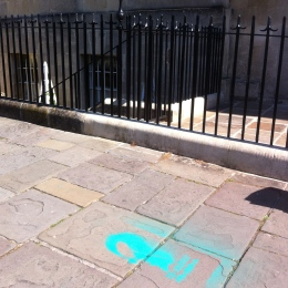 A stencil outside No 1 Royal Crescent