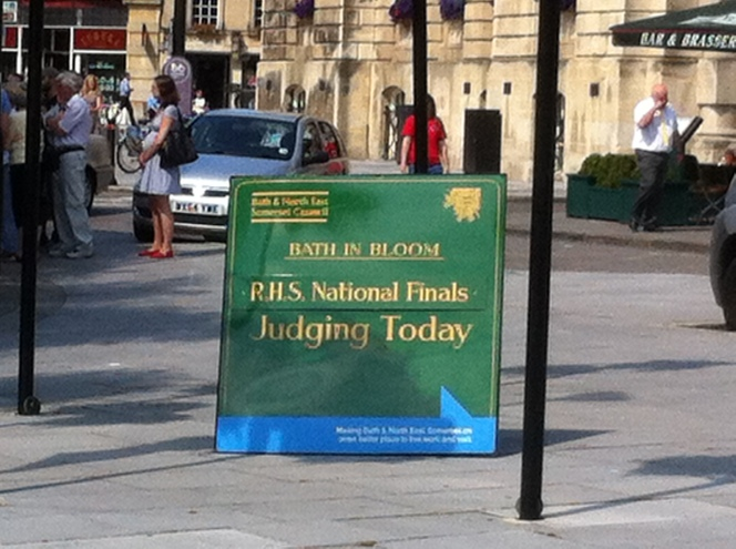 Floral judges in Bath!