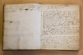 The 18th century weather diary Photo:  Freia Turland