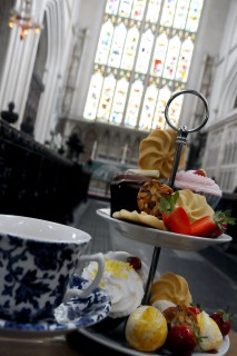 Taking tea at the Abbey!