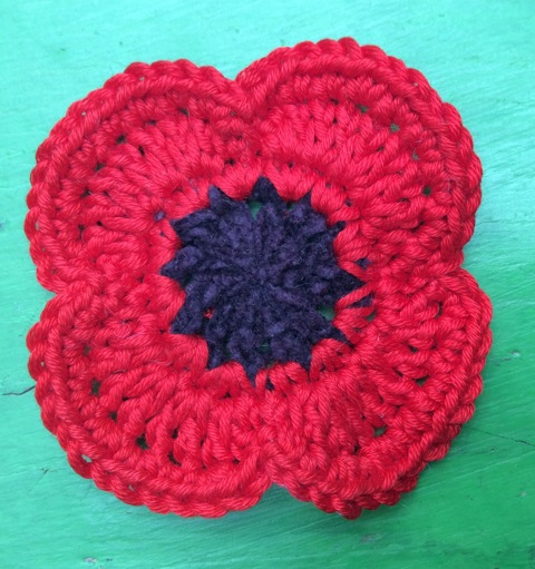 Poppies knit-in