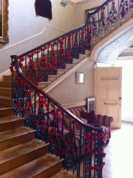 The grand staircase -festooned with poppies
